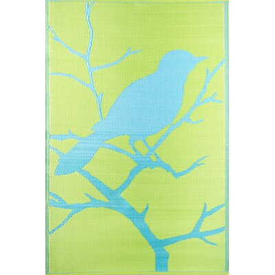 Koko Company Birds Yellow / Turquoise Outdoor Rug