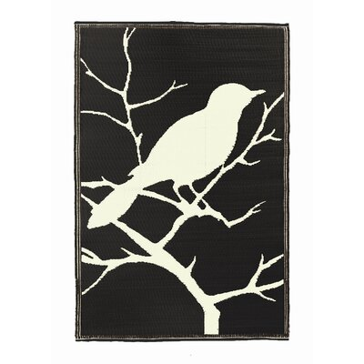 Koko Company Birds Midnight Black / Off-White Rug