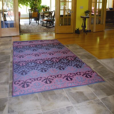 Koko Company Sari Border Ruby Outdoor Rug