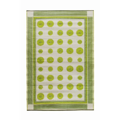 Koko Company Dots Plantain Outdoor Rug
