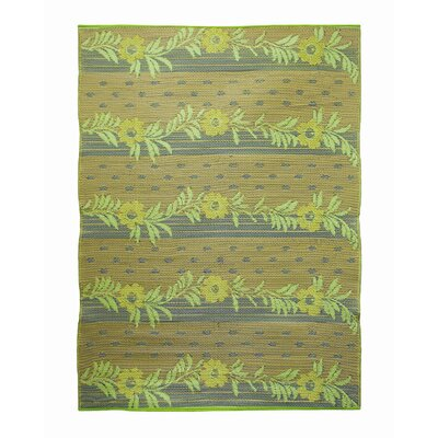 Koko Company Vines Gold Lime / Beige Outdoor Rug