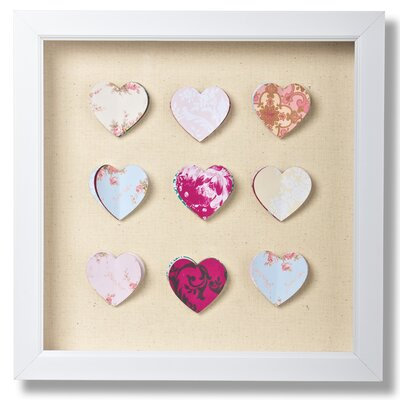 Graham and Brown Hearts Corsage Framed Graphic Art