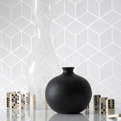 Graham & Brown Shape and Form Cubix Geometric Wallpaper