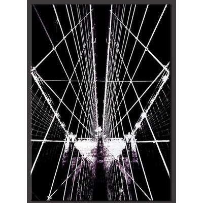 Brooklyn Bridge Structure Photographic Print on Canvas