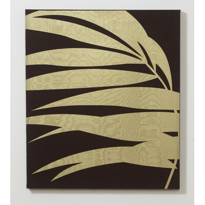 Palm Fabric Graphic Art on Canvas