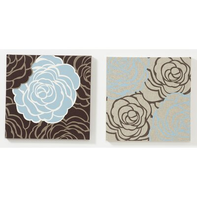 Graham & Brown Avalanche Roses Fabric Wall Art (Set of 2)