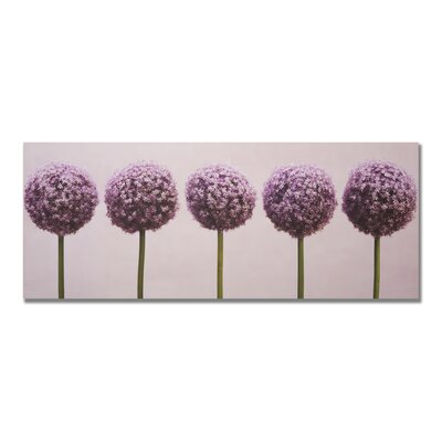 "Graham & Brown Row of Alliums Printed Canvas Art - 16"" X 40"""