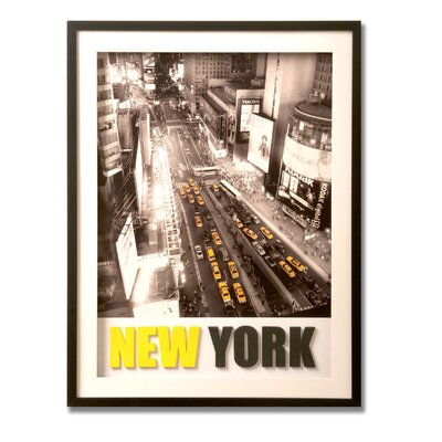 "Graham & Brown New York 3 - D Framed  Print Canvas Art - 32"" X 24"""