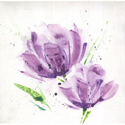 "Graham & Brown Lilac Fleur Printed Canvas Art - 12"" X 12"""