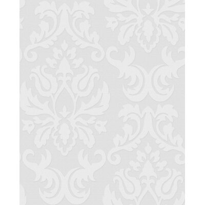 Graham & Brown Paintable Damask Wallpaper in White