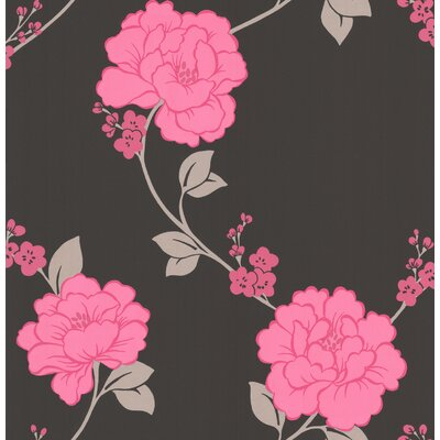 Graham & Brown Laurence Llewelyn Bowen Shantung Floral Botanical Wallpaper