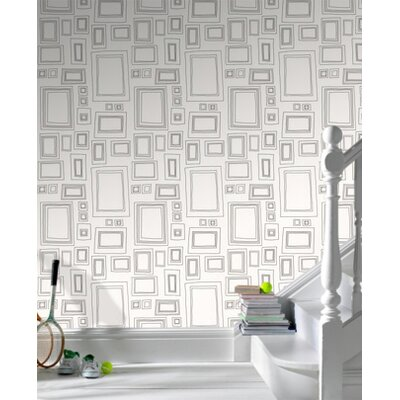 Graham & Brown Label Frames Wallpaper in Black / White