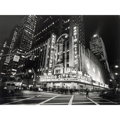 Graham and Brown Metallic City Lights Photographic Print on Canvas