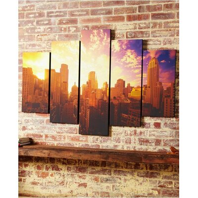 Graham & Brown Good Morning New York Canvas (Set of 5)