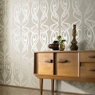 Graham & Brown Diva Oyster Wallpaper by Barbara Hulanicki