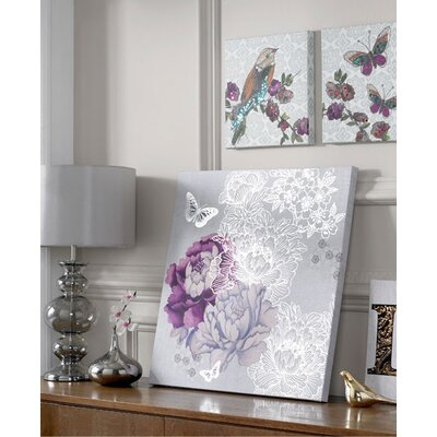 Graham & Brown Floral Metallic Graphic Art on Canvas