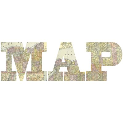 Graham & Brown Map Letters Wall Art