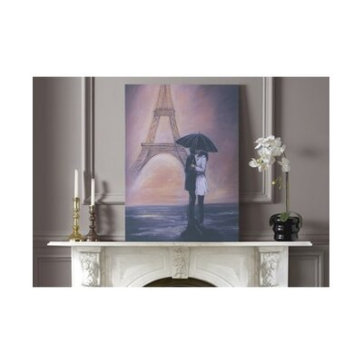 Graham & Brown Kissing In Paris Canvas Wall Art