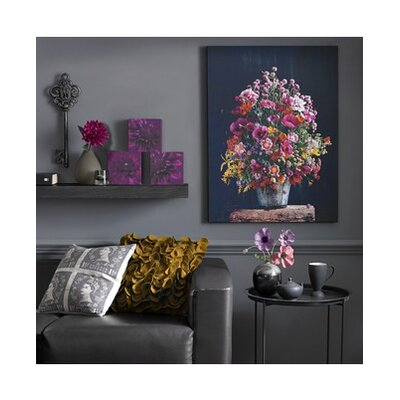 Bright Floral Original Painting on Canvas