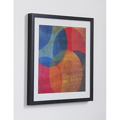 Neon Circle Framed Painting Print