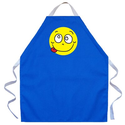Attitude Aprons by L.A. Imprints Silly Face Apron in Royal