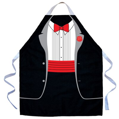 Attitude Aprons by L.A. Imprints Kid's Tux Apron in Black