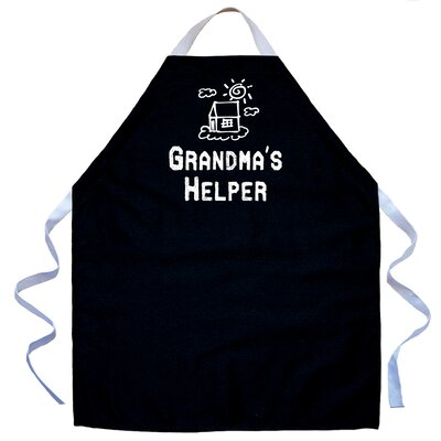 Grandma's Helper Apron in Black