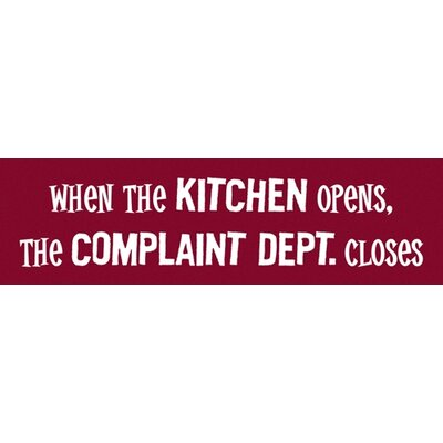 Attitude Aprons by L.A. Imprints Complaint Department Apron