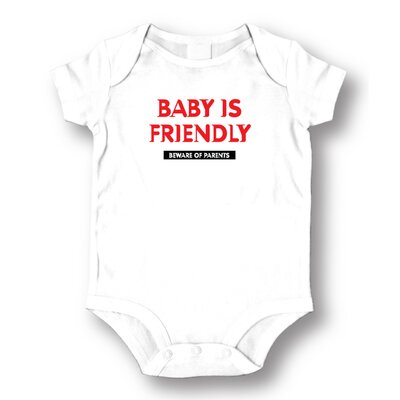 Attitude Aprons by L.A. Imprints Baby is Friendly Baby Romper