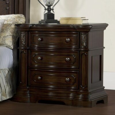 Cassara 3 Drawer Nightstand