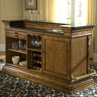 Pulaski San Mateo Bar With Wine Storage Reviews Wayfair