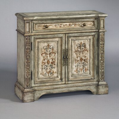 Powell Mansion Fluted Pilaster 2 Drawer Cabinet | Wayfair