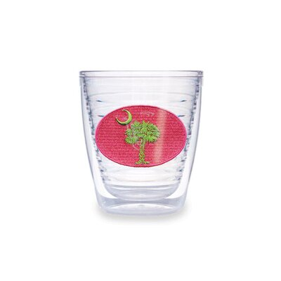 South Carolina Flag in Pink and Green 12 oz. Tumbler (Set of 4)