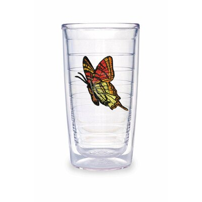 Tervis Tumbler Butterfly 16oz. Yellow Orange Tumbler (Set of 4)