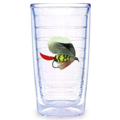 Fish Flies Brown 16 oz. Tumbler (Set of 2)