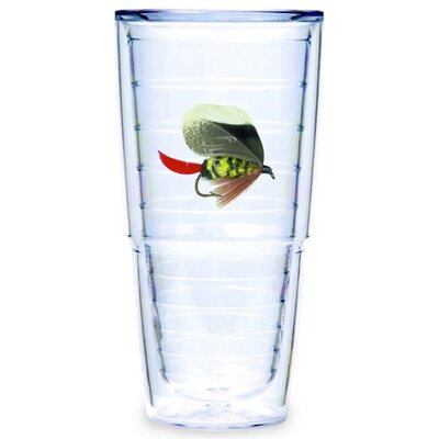 Tervis Tumbler Fish Flies Brown 24 oz. Big-T Tumbler (Set of 2)