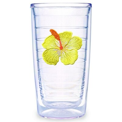 Tervis Tumbler Hibiscus Yellow 16 oz. Tumbler (Set of 4)