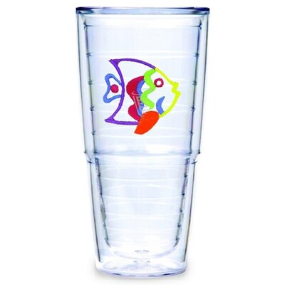 Tervis Tumbler Multi Colored Fish 24 oz. Big-T Tumbler