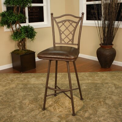 American Heritage Savannah Stool in Ginger Spice with Java Vinyl