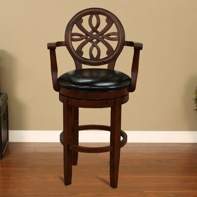 "American Heritage Kennedy 30"" Swivel Bar Stool with Cushion"