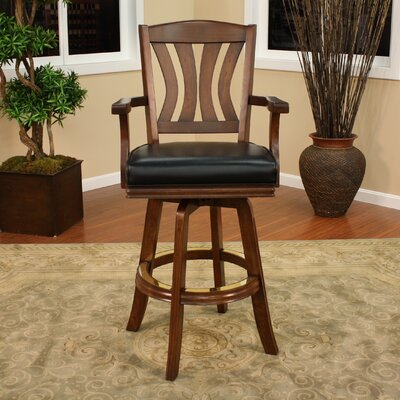 American Heritage Bradbury Swivel Bar Stool with Cushion