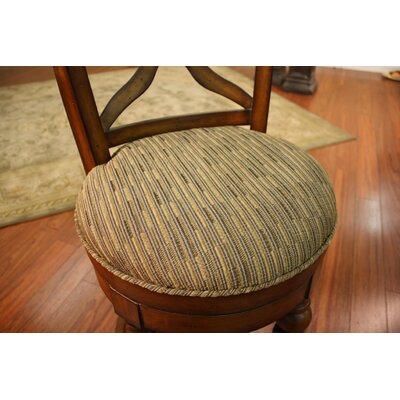 American Heritage Livingston Stool in Sienna with Harvest Fabric