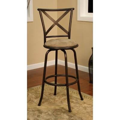 Santina Stool in Coco with Taupe Microfiber