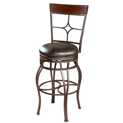 American Heritage Vincent Bonded Leather Stool