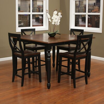 heritage berkshire 5 piece counter height pub set reviews wayfair