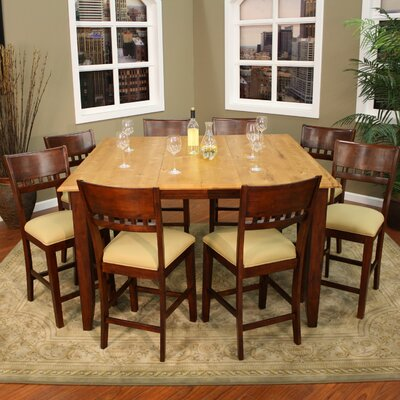 Light wood dining room sets wayfair for Light wood dining room sets