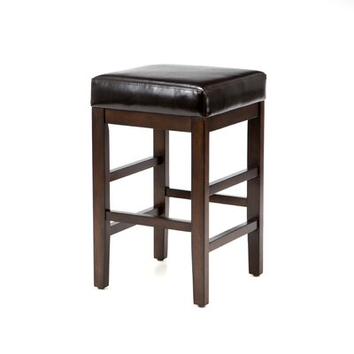 <strong>American Heritage</strong> Empire Stool in Sierra with Merlot Leather
