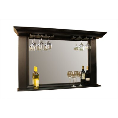American Heritage Eldorado Mirror with Glass Holders in Antique Black
