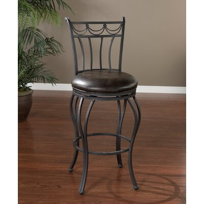 American Heritage Abella Bonded Leather Stool