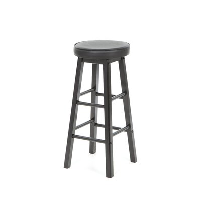 <strong>American Heritage</strong> Delta Stool in Black with Black Vinyl